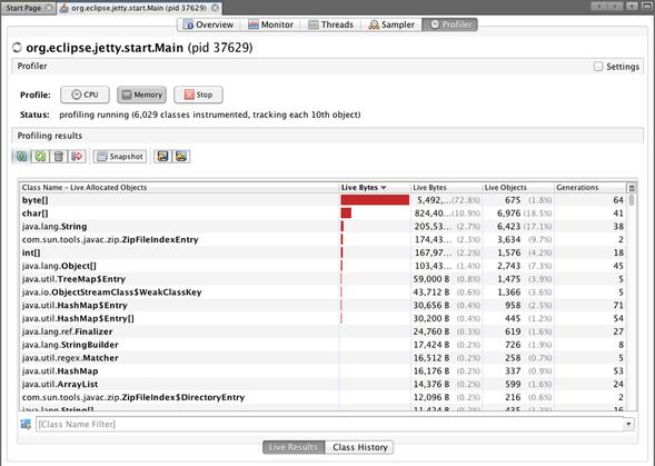 java memory profiler