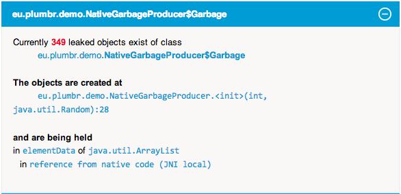 Java Native Leak Detection