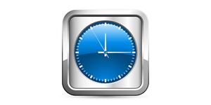 Zeit, Uhr - App / Button