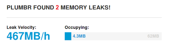 java memory leak severity