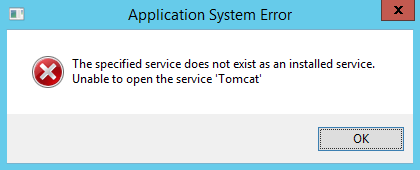 windows service - service does not exist