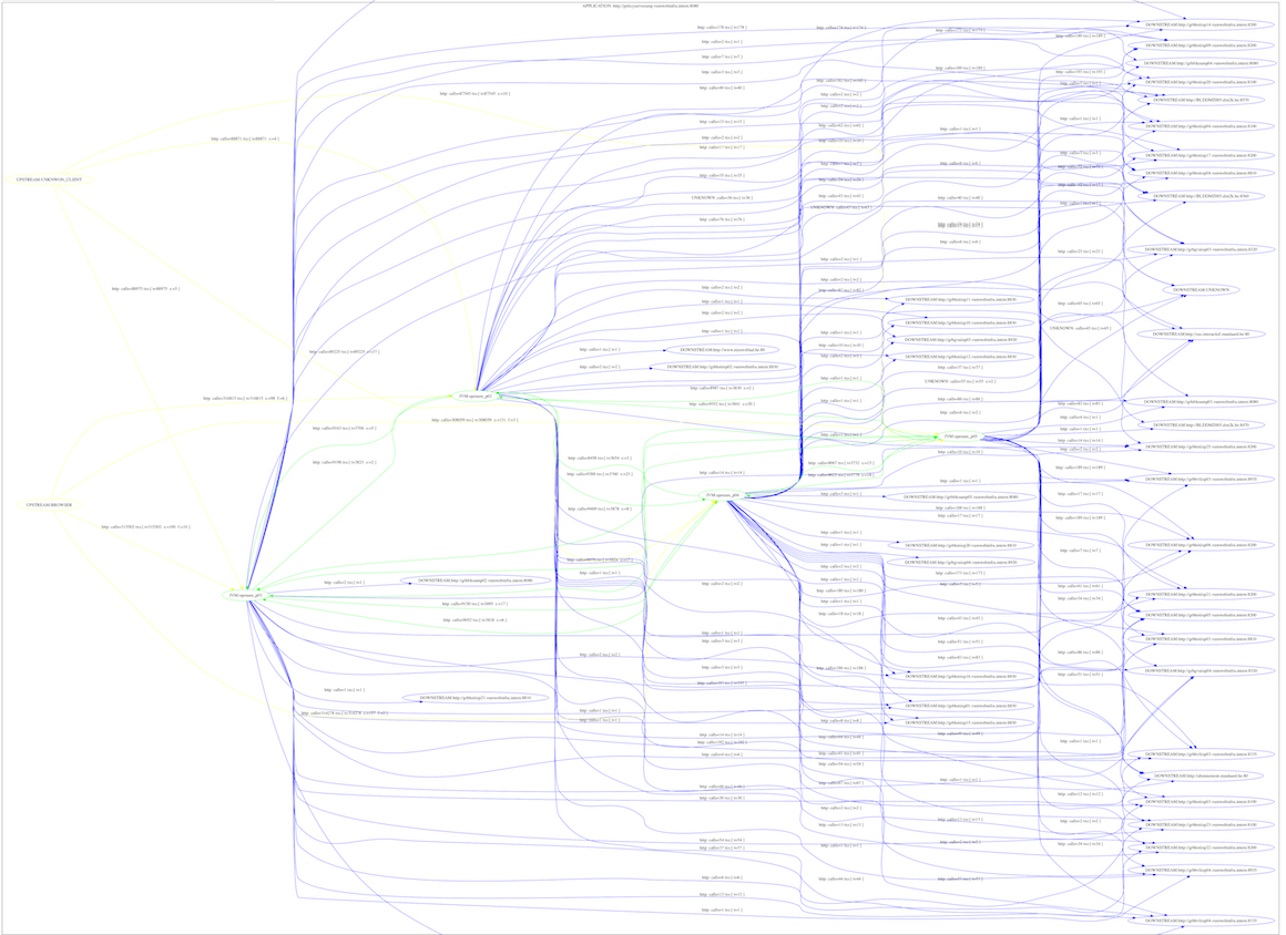 runtime application architecture visualization
