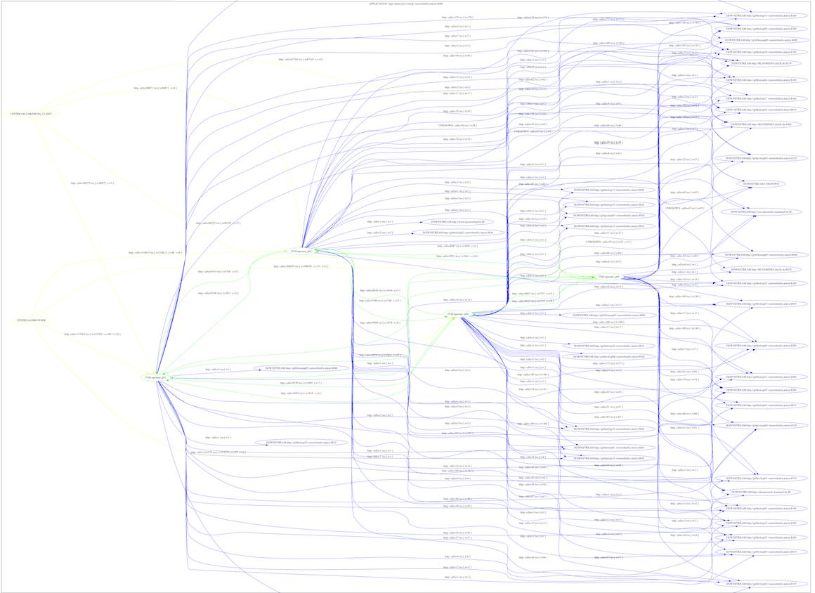 runtime application architecture visualization